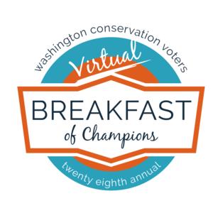 WashingtonConservationVoters webinar platform hosts Washington Conservation Voters' Breakfast of Champions