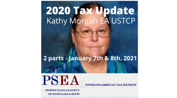 Webinar: PA Society of Enrolled Agents' 2020 Tax Update ...