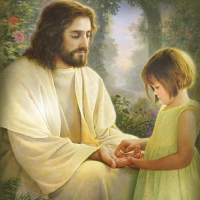 Jesus-picture-loving-a-little-girl-playing-with-his-hand-1024x1002