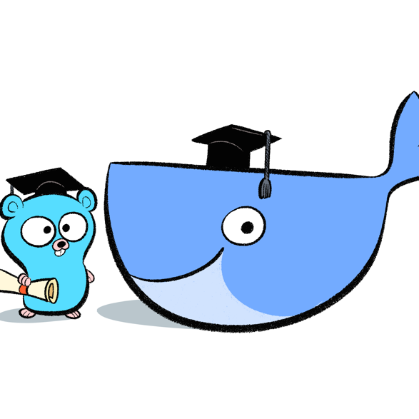 Docker-gopher-banner