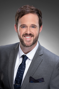 Webinar hosting presenter Evan Fricks