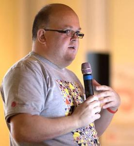 Webinar hosting presenter Matt Casters