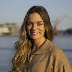 Webinar hosting presenter Josefine Skoglund